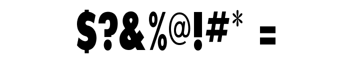SansSerifExbFLFCond Font OTHER CHARS