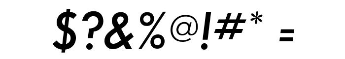 SansSerifFLF-DemiItalic Font OTHER CHARS