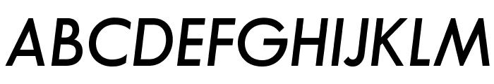 SansSerifFLF-DemiItalic Font UPPERCASE