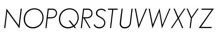 SansSerifFLF-Italic Font UPPERCASE