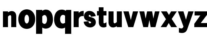 SansSerifVarying-Black Font LOWERCASE