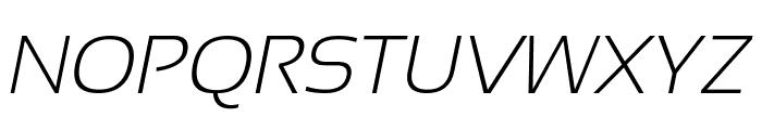 Sansation Light Italic Font UPPERCASE