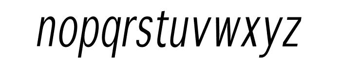 SansibarCX-CondensedOblique Font LOWERCASE