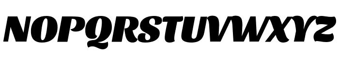 Sansita Black Italic Font UPPERCASE