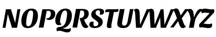 Sansita Bold Italic Font UPPERCASE
