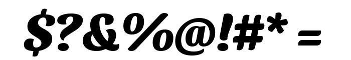 Sansita ExtraBold Italic Font OTHER CHARS