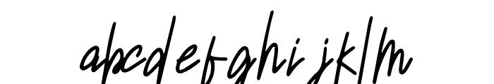 Sansitype Script Font LOWERCASE