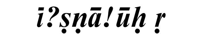 Sanskrit--Roman-Bold-Italic Font OTHER CHARS