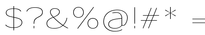 Sansumi-UltraLight Font OTHER CHARS