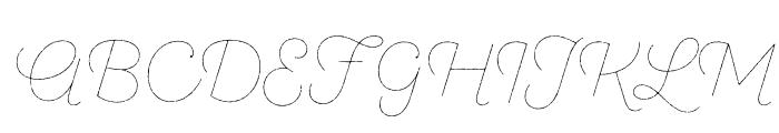 SantEliaRough-Line Font UPPERCASE