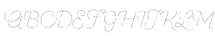 SantEliaRough-LineThr Font UPPERCASE