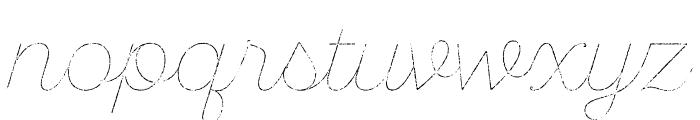 SantEliaRough-LineThr Font LOWERCASE