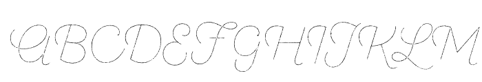 SantEliaRough-LineTwo Font UPPERCASE