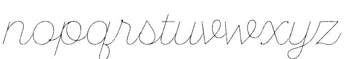 SantEliaRough-Line Font LOWERCASE