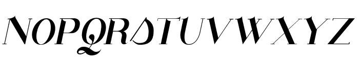 Santander italic Font UPPERCASE