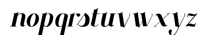 Santander italic Font LOWERCASE