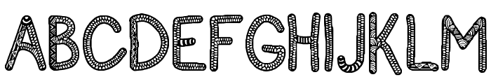 Sanzen Font UPPERCASE