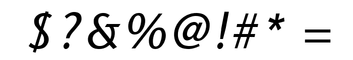 Sapir Italic Font OTHER CHARS