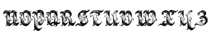 Saraband Lettering Font UPPERCASE