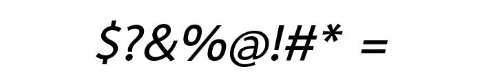 Sarabun Bold Italic Font OTHER CHARS