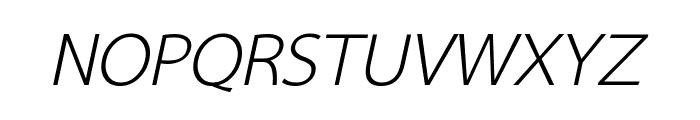 Sarabun Italic Font UPPERCASE