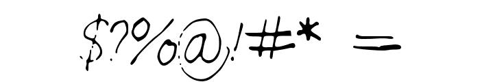 SarahScript Font OTHER CHARS