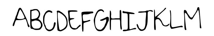 SarahScript Font UPPERCASE