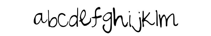 SarahScript Font LOWERCASE