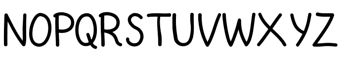 Saridezra Hand Font UPPERCASE