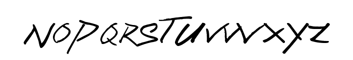 Sassy Stark Font LOWERCASE