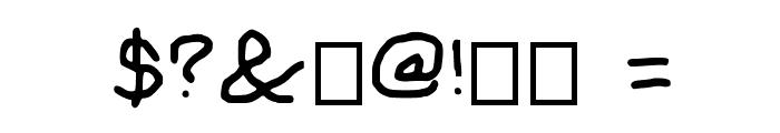 Sassy snowflake Medium Font OTHER CHARS