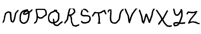 Sassy snowflake Medium Font UPPERCASE