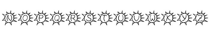 Sassys Sonne Font UPPERCASE