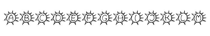 Sassys Sonne Font LOWERCASE