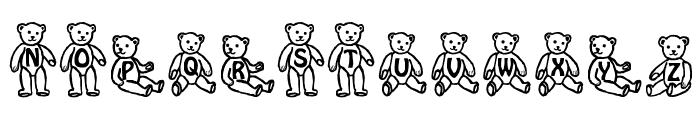 Sassys Teddys 1 Font UPPERCASE