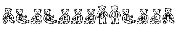 Sassys Teddys 1 Font LOWERCASE