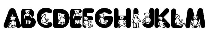 Sassys Teddys 3 Font UPPERCASE
