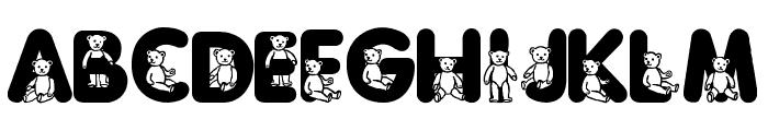 Sassys Teddys 3 Font LOWERCASE
