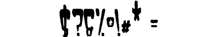 Satan 1981 Regular Font OTHER CHARS
