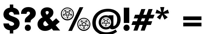 Satanic Participants Font OTHER CHARS