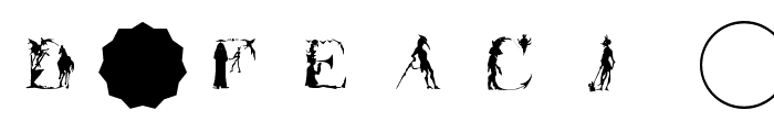 SatanicAlphabet Font OTHER CHARS