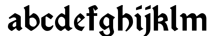 Satanick Regular Font LOWERCASE