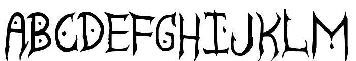 Satanyc Demoniac St Font LOWERCASE
