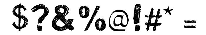 Satin Stitch Bold Font OTHER CHARS