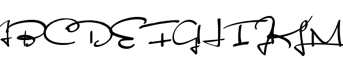 Satisfaction Font UPPERCASE
