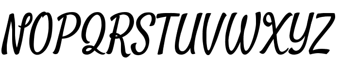 Satisfy Font UPPERCASE