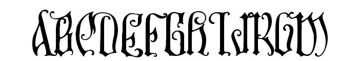 Sauerkraut Font UPPERCASE