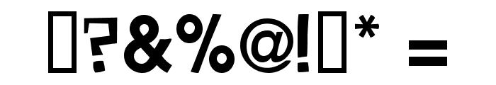 Savant Barden DemiBold Font OTHER CHARS