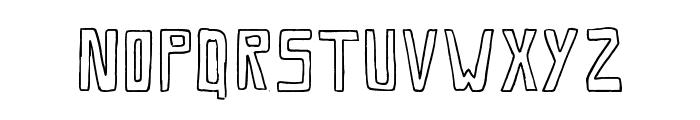 Savia Outline // ANTIPIXEL.COM.AR Font UPPERCASE