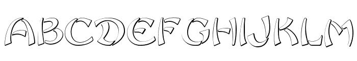 Sayonara Beveled Font UPPERCASE